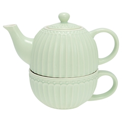 Tea-for-one Greengate Alice pale green