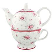 Tea-for-one GreenGate Flora white