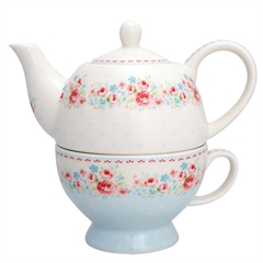 Tea-for-one GreenGate Tess white