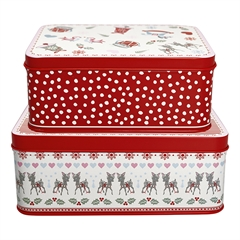 Rectangular box Bambi white set of 2 pcs