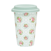 To-go krus porcelæn GreenGate Smilla mint
