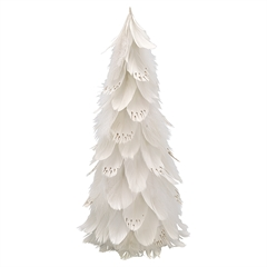 Feather tree off white large