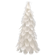 Feather tree off white medium