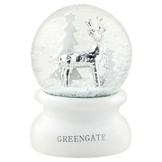 GreenGate snowglobe white small