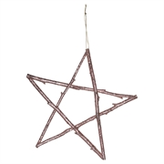 GreenGate star wooden rose gold large