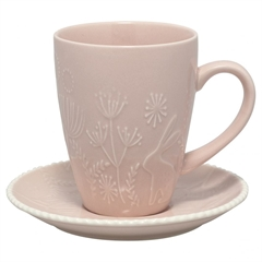 Cup & saucer Evy pale pink