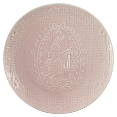 Plate Evy pale pink
