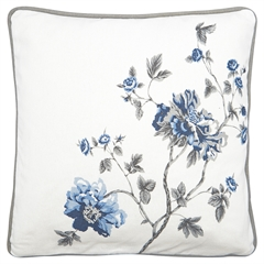 Cushion Charlotte white pieceprinted 40x40cm