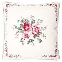 Cushion Elouise white pieceprinted 40x40cm