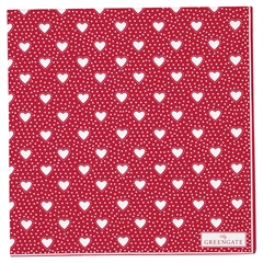 Napkin Penny red large 20pcs