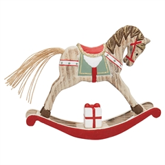Decoration rocking horse red medium
