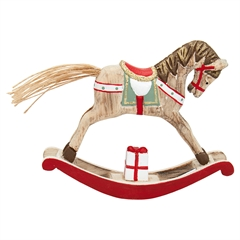 Decoration rocking horse red small