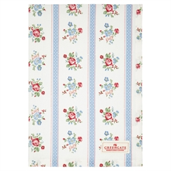 Tea towel Evie white