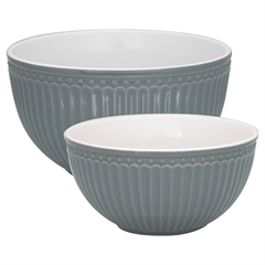 Serving bowl Alice stone grey set of 2