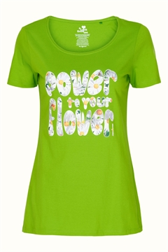 Lime Power Flower - Margot t-shirt