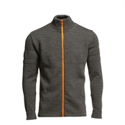 Klemens Zip Kontrast - Charcoal Melange Orange