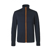 Klemens Zip Kontrast - Navy Orange