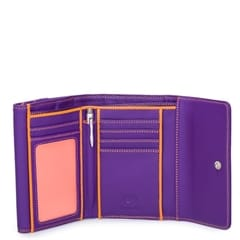 Double Flap pung - Purple, ensfarvet