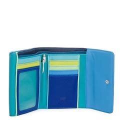9821747a43b Ensfarvet Mywalit Double Flap pung - Sea Blue - KØB online
