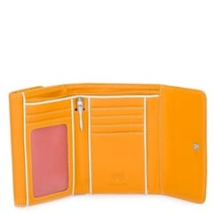 Double Flap pung - Dark Yellow, ensfarvet
