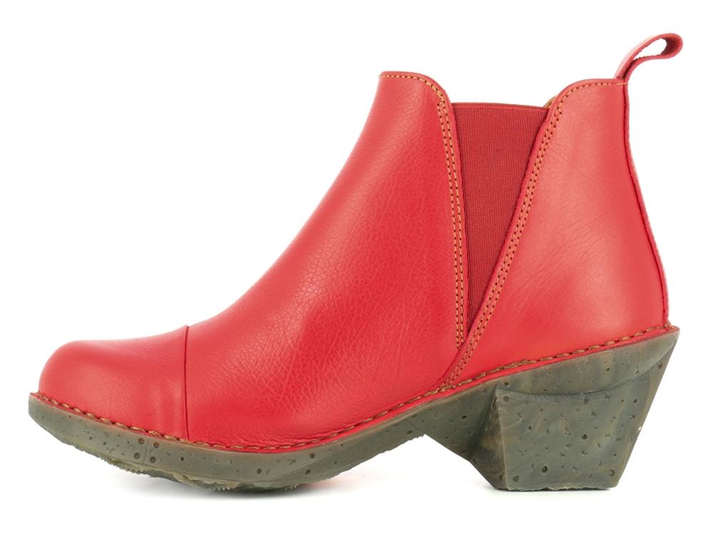 917a27ac Rød ankelstøvle i læder - OTEIZA memphis carmin fra ART sko