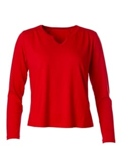 Petra Basic Long Red - du Milde bluse