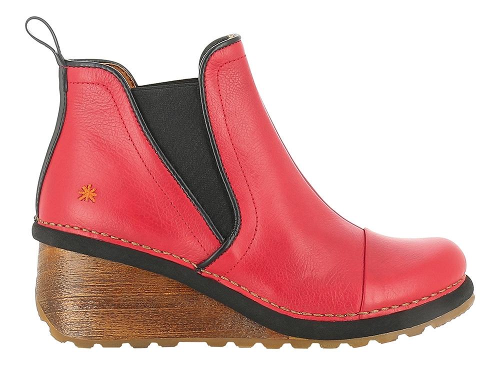 bc3a88fd TAMPERE memphis carmin - rød læder støvle - ART sko 1462